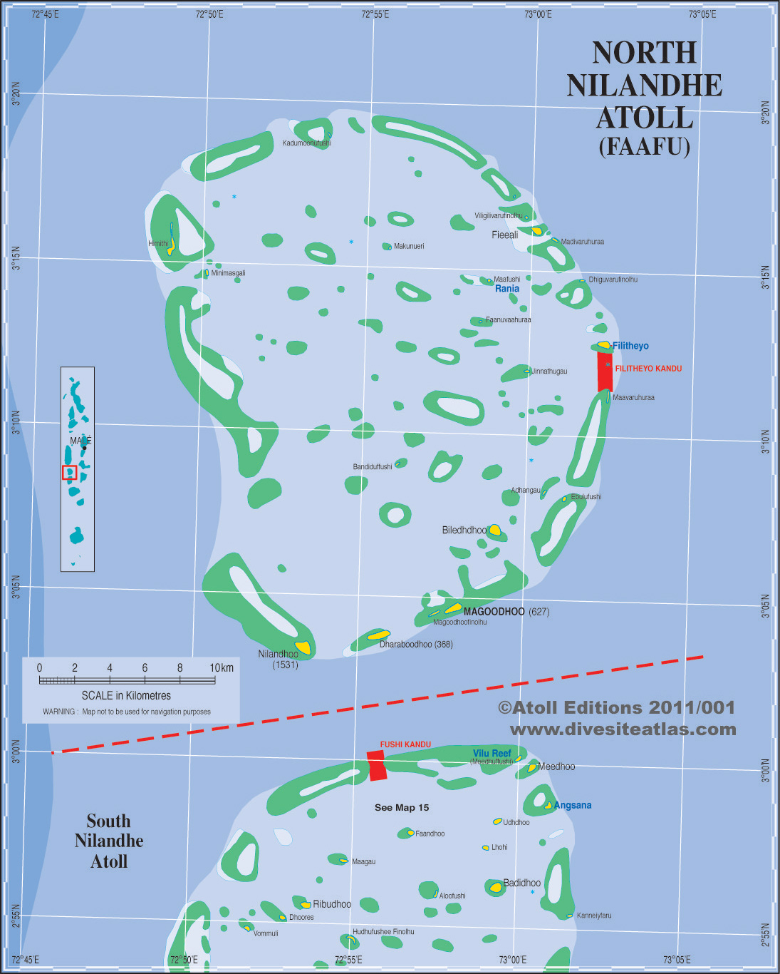 North Nilandhe Atoll Islands (Faafu)